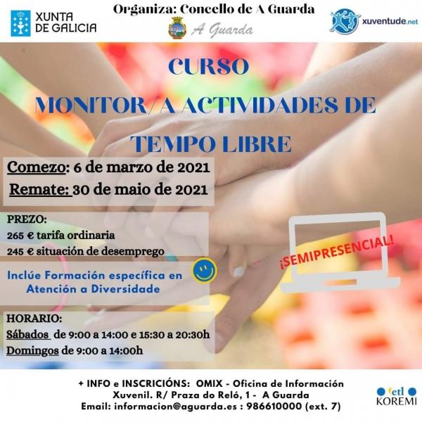 Curso na Guarda de Monitor/a de actividades de tempo libre da ETL Koremi