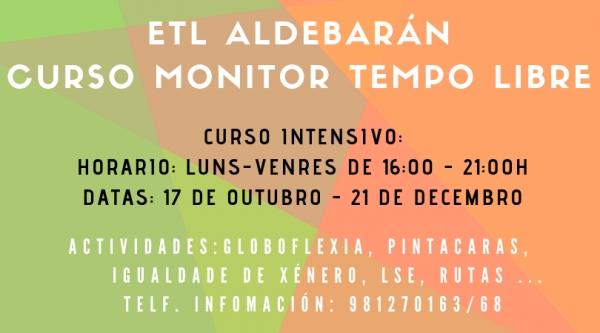 Curso de monitor/a de actividades de tempo libre na Coruña da Escola Aldebarán