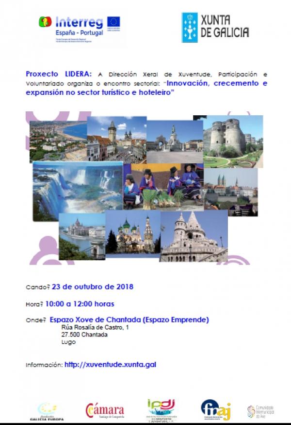 """Encontro sectorial no Espazo Xove de Chantada: """"Innovación, crecemento e expansión no sector turístico e hoteleiro"""""""