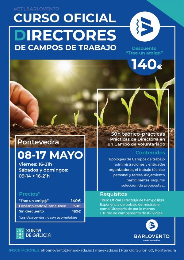Curso de Director/a de Campos de Traballo en Pontevedra