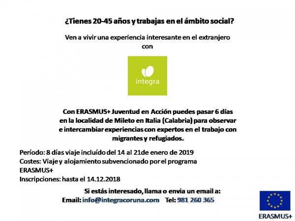 Visita a Mileto (Italia) de observación para traballadores/as do ámbito social