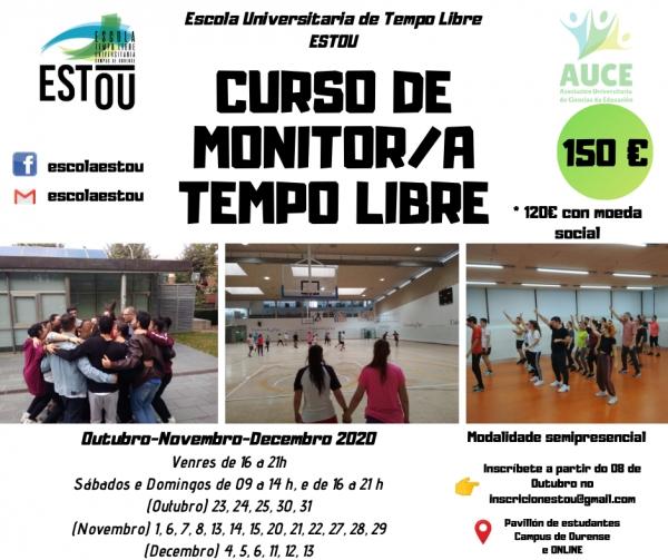 Curso de Monitores/as de actividades de tempo libre en Ourense da ETL Estou