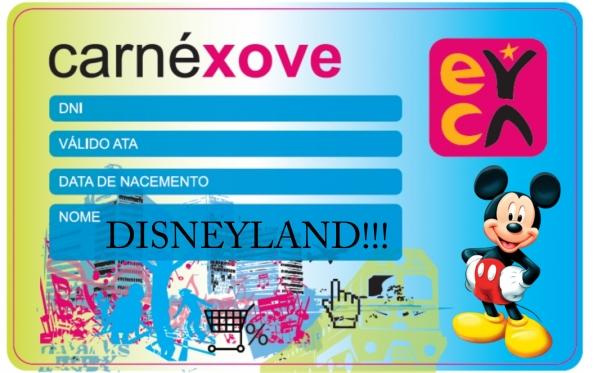 """Promoción do Carné Xove """"DISNEYLAND"""""""