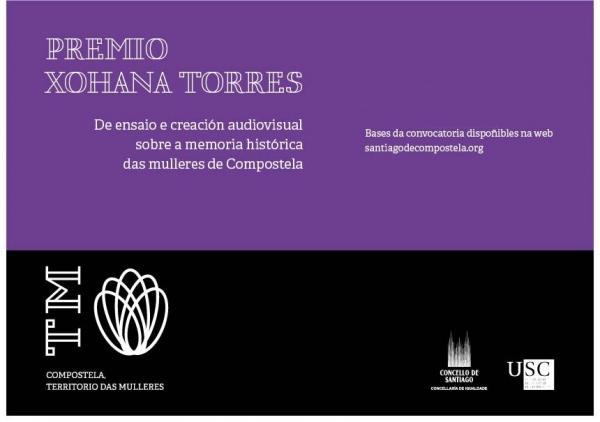 Premio Xohana Torres de ensaios e creacións audiovisuais sobre a Memoria Histórica das Mulleres de Compostela