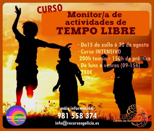 Curso de Monitoras/es de Actividades de Tempo Libre en Santiago de Compostela