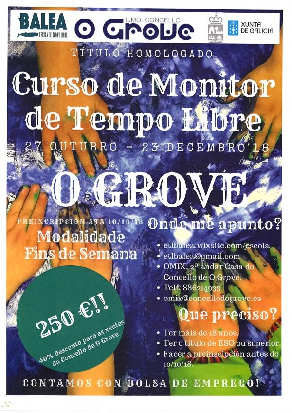 Curso de monitor/a de actividades de tempo libre no Grove