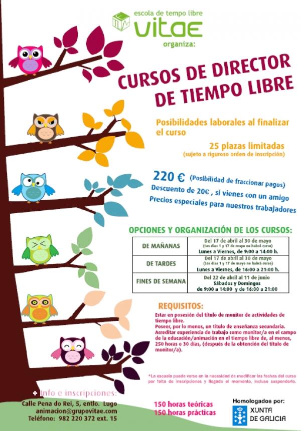 Cursos de Directores/as de actividades de tempo libre en Lugo