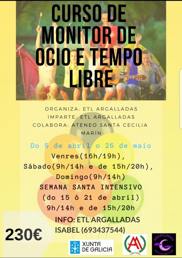 Curso de Monitor/a de actividades de Tempo Libre en Marín
