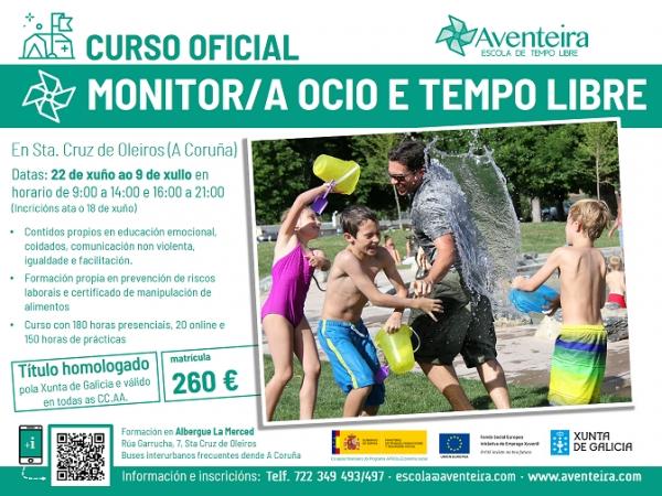 Curso de Monitor/a de actividades de tempo libre en Oleiros da ETL Aventeira