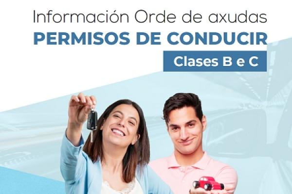 Axudas para a obtención dos permisos de condución clases B e C