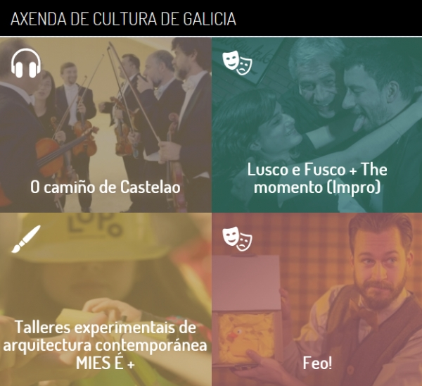 Axenda cultural de Galicia