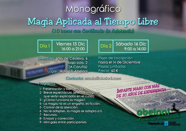 Curso de Maxia aplicada ao tempo libre na Coruña