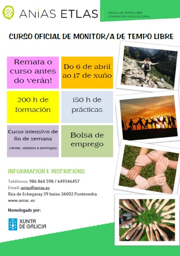 Curso de Monitor/a de tempo libre en Pontevedra