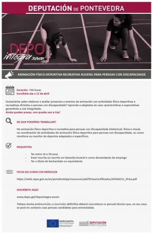 Animación Físico-Deportiva Recreativa Xuvenil para Persoas con Discapacidade en Pontevedra