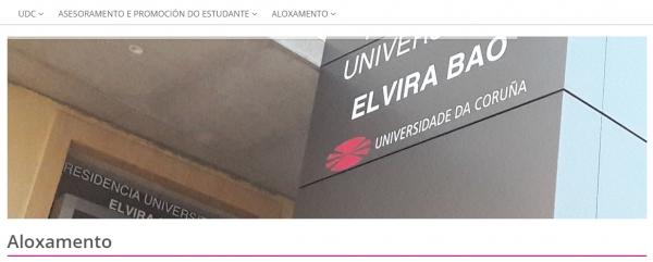 Aloxamento da universidade da Coruña