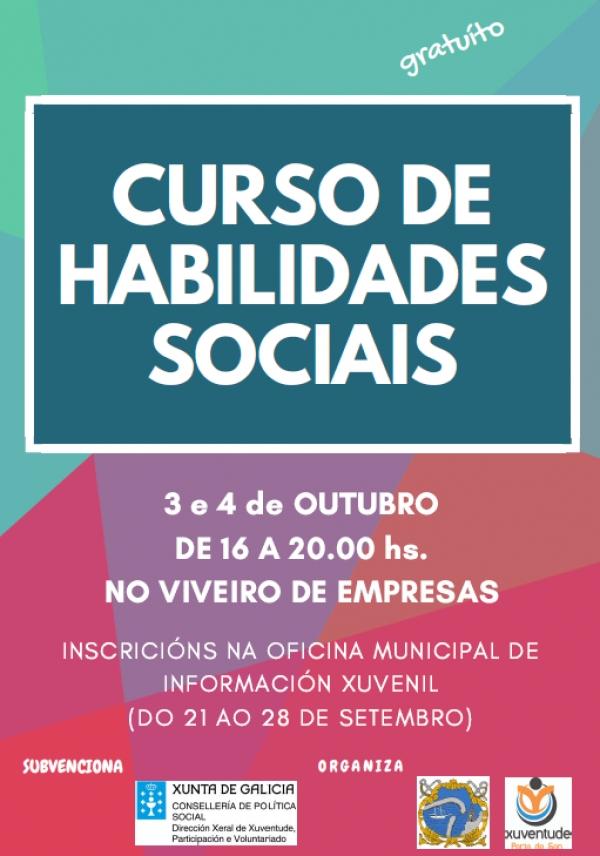 Curso de habilidades sociais en Porto do Son