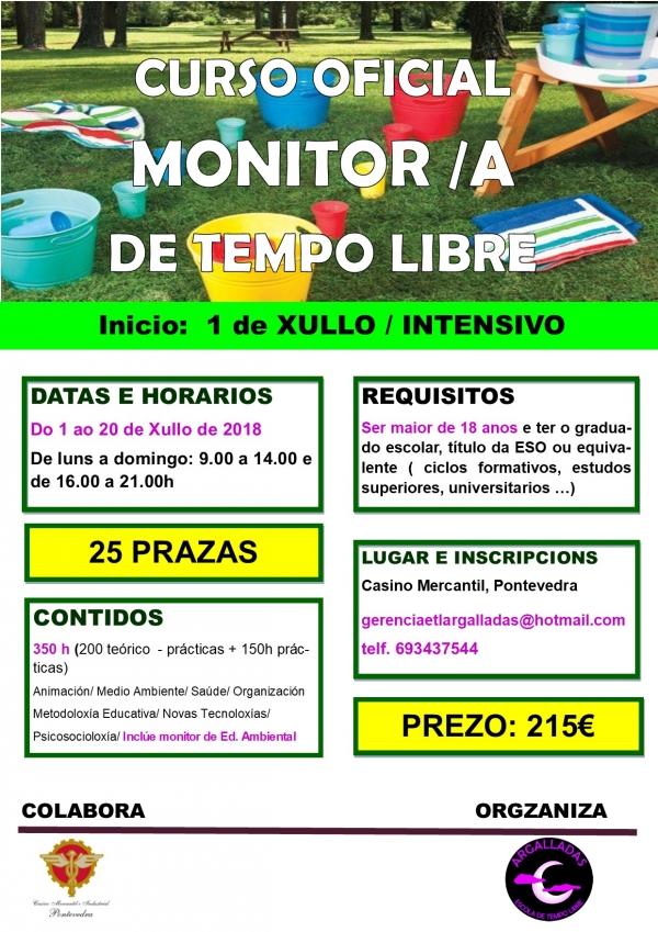 Curso intensivo de Monitoras/es de Actividades de Tempo Libre en Pontevedra