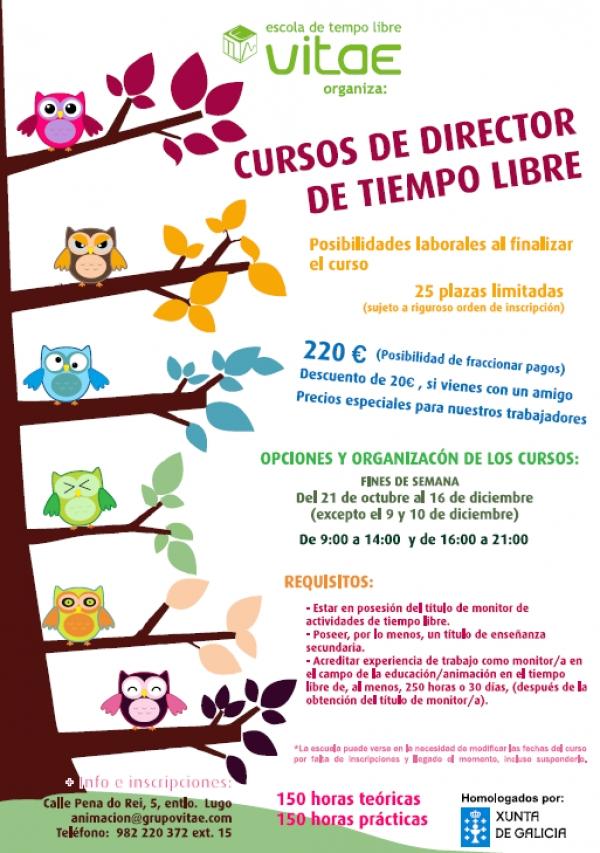 Curso de Director/a de actividades de tempo libre en Lugo