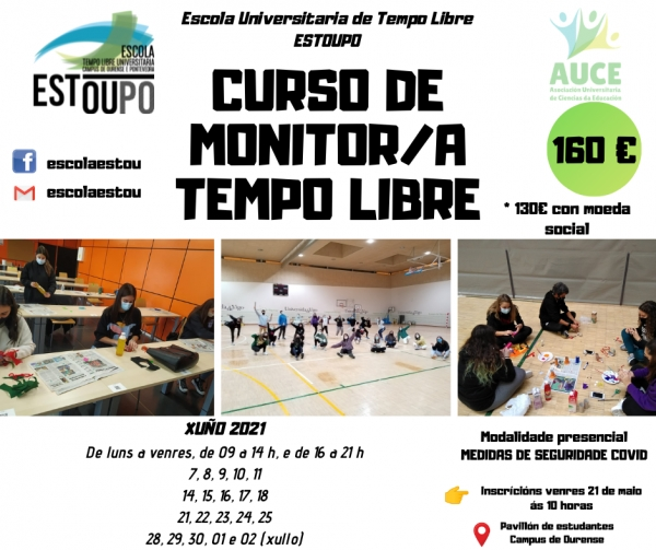 Curso en Ourense de Monitores/as en actividades de tempo libre da ETL Estoupo