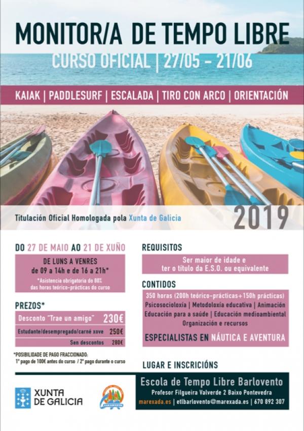 Curso de Monitor/a de actividades de ocio e tempo libre en Pontevedra