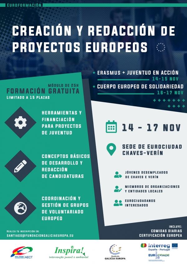 Cursos de creación e redacción de proxectos europeos