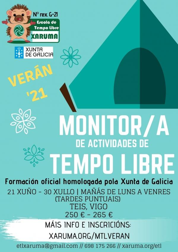 Curso en Vigo de Monitor/a de Actividades de Tempo Libre da ETL Xaruma