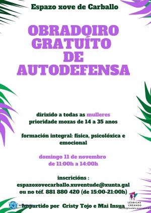 OBRADOIRO GRATUITO DE AUTODENSA PARA MULLERES