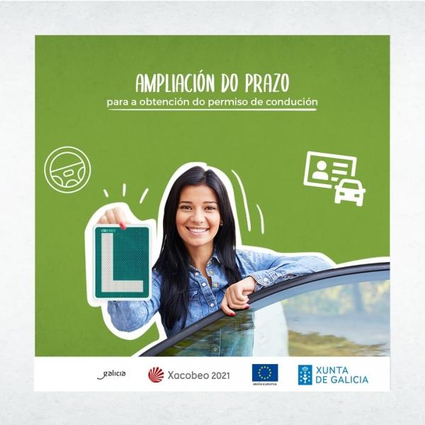 Ampliación do prazo para a obtención do permiso de condución para as persoas que solicitaron as axudas