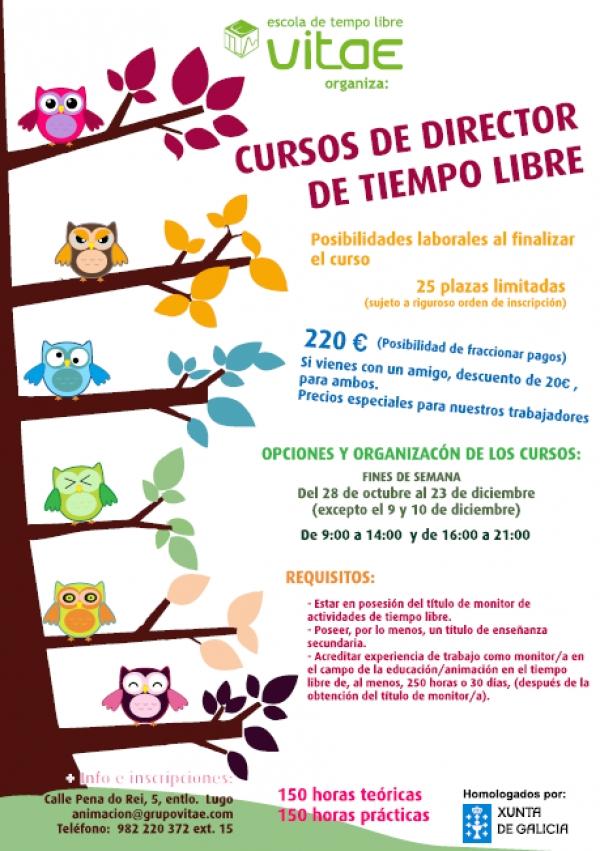 Curso de Director/a de tempo libre en Lugo