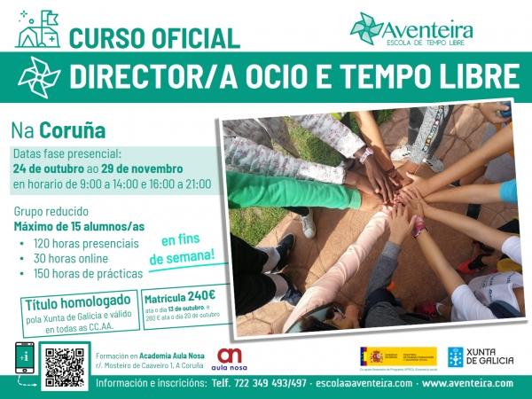 Curso de Director/a de actividades de tempo libre na Coruña da ETL Aventeira