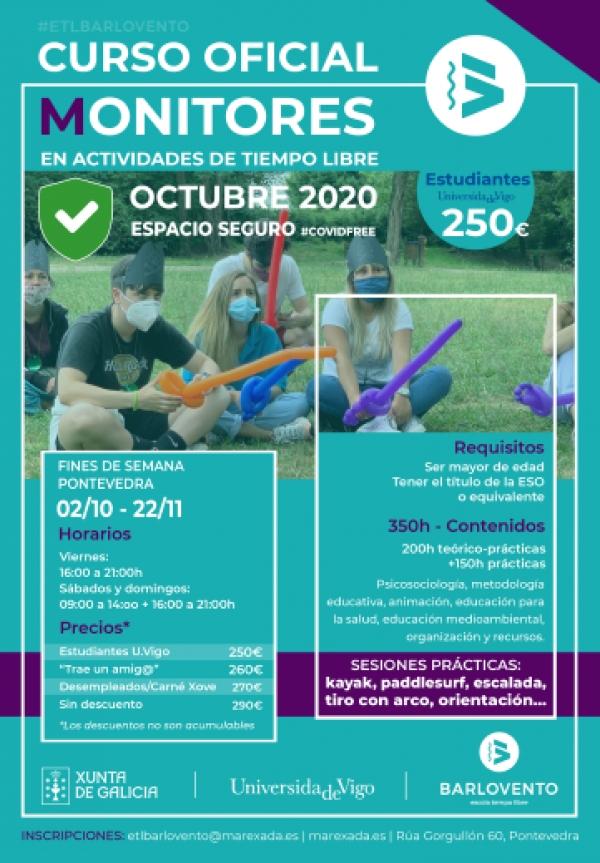 Curso Monitor/a de tempo libre en Pontevedra da ETL Barlovento