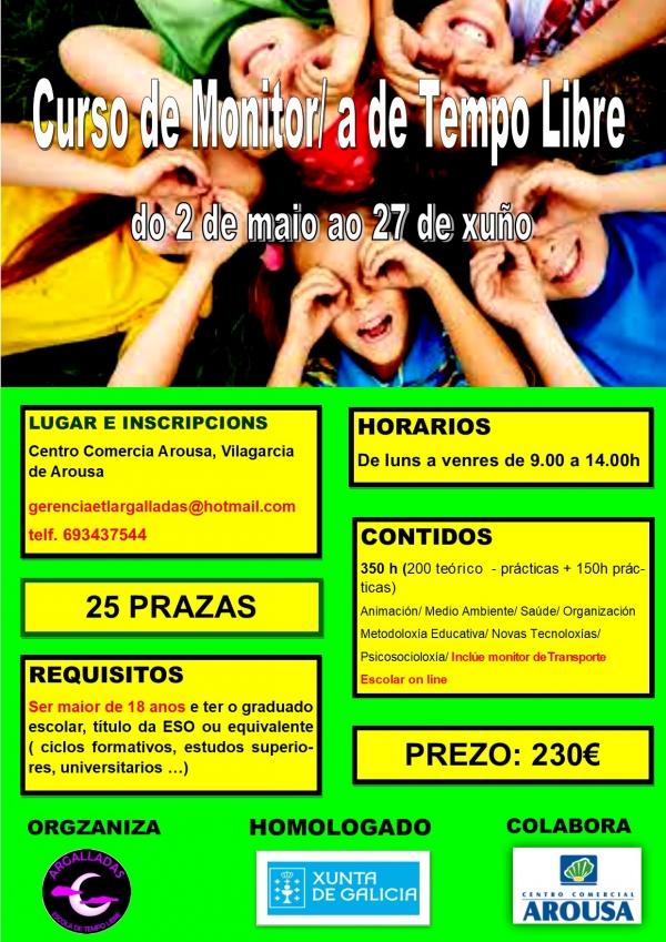 Curso de Monitor/a de actividades de tempo libre en Vilagarcía de Arousa