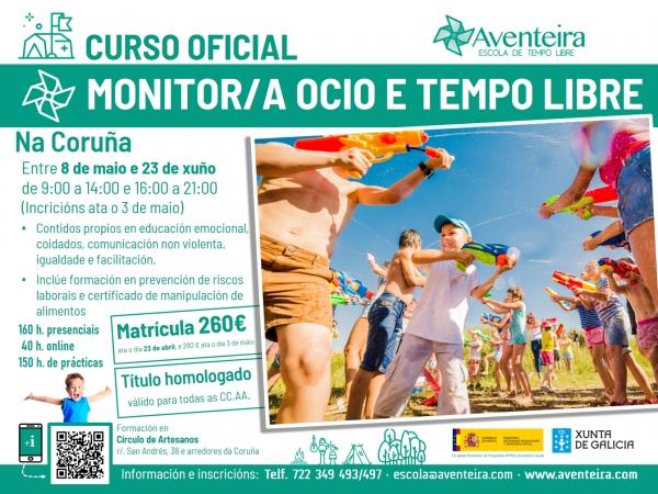 Curso na Coruña de Monitoras/es de actividades de tempo libre da ETL Aventeira