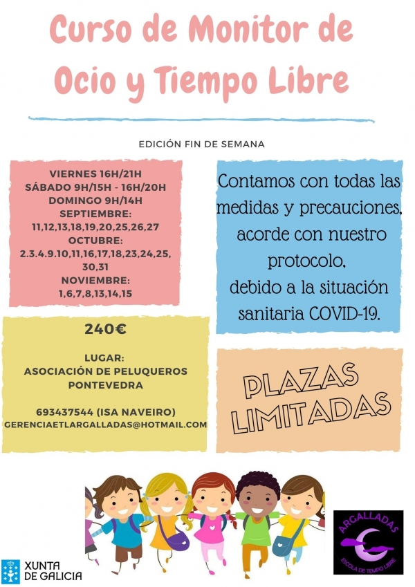 Curso de Monitores/as de actividades de tempo libre en Pontevedra da ETL Argalladas