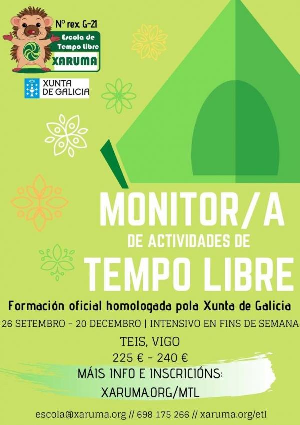 Curso Monitor/a de tempo libre en Teis da ETL Xaruma