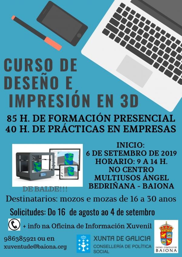 Curso de Deseño e Impresión 3D na OMIX de Baiona
