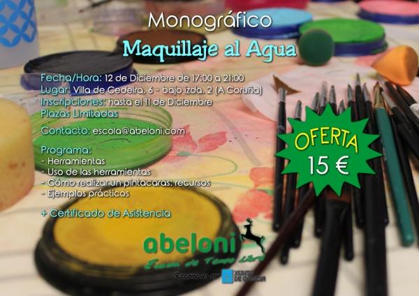 Curso de Maquillaxe á auga na Coruña