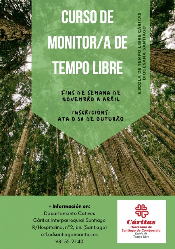 Curso de Monitor/a de actividades de tempo libre en Santiago da escola de Cáritas