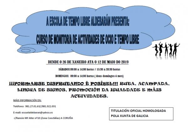 Curso de monitor de actividades de ocio e tempo libre na Coruña