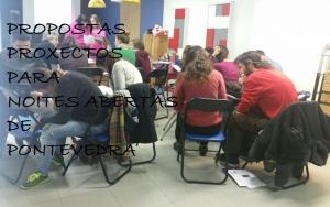 Proxectos-propostas para as Noites Abertas de Pontevedra