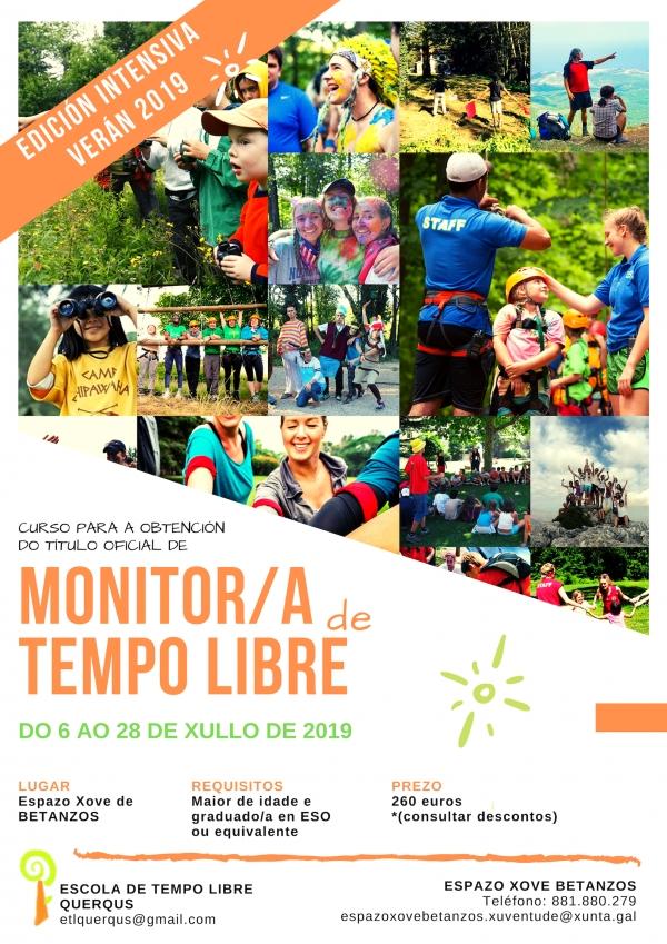 Curso intensivo de Monitor/a de actividades de tempo libre en Betanzos