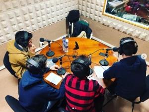 Correspondentes Xuvenís do IES do Camiño de Palas de Rei na emisora de radio