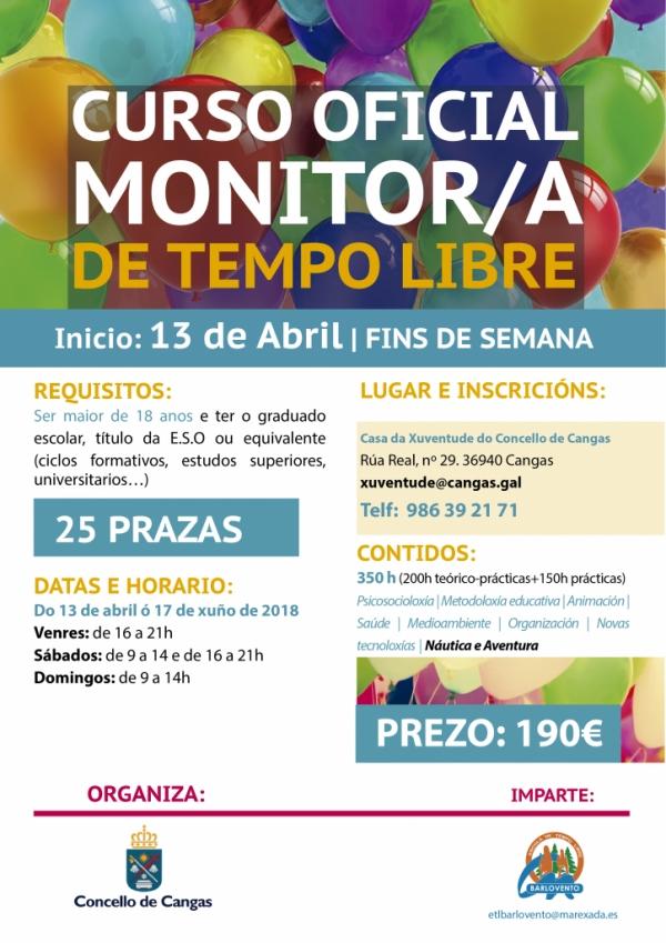 Curso de Monitor/a de actividades de tempo libre en Concello de Cangas