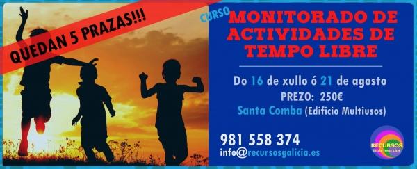 Curso de Monitor/a de actividades de tempo libre en Santa Comba