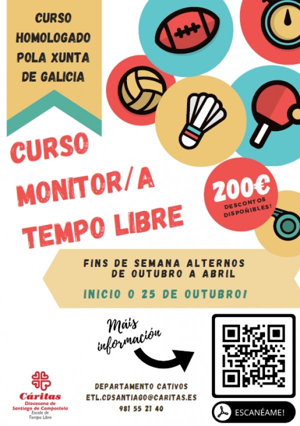 Curso de Monitores/as de actividades de tempo libre en Santiago da ETL Cáritas