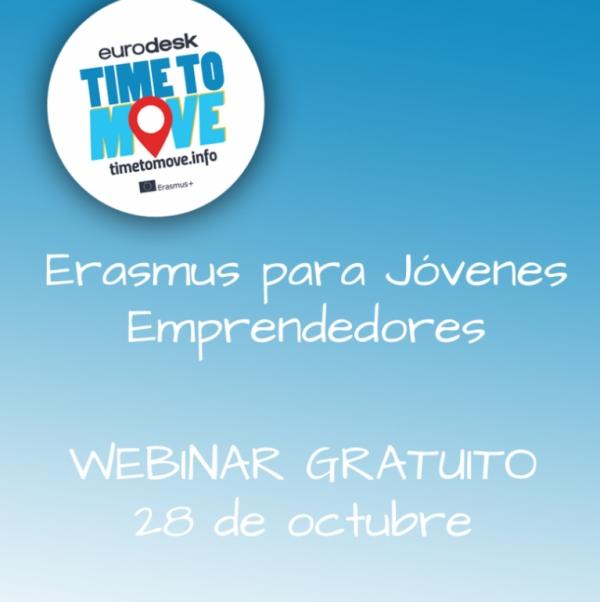 Webinar sobre Erasmus para mocidade emprendedora