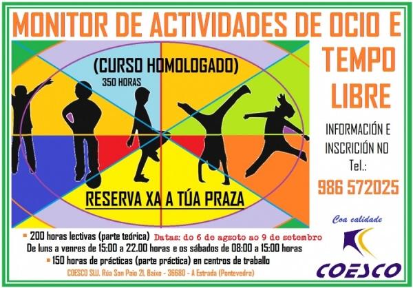 Curso de Monitor/a de actividades de Tempo Libre na Estrada