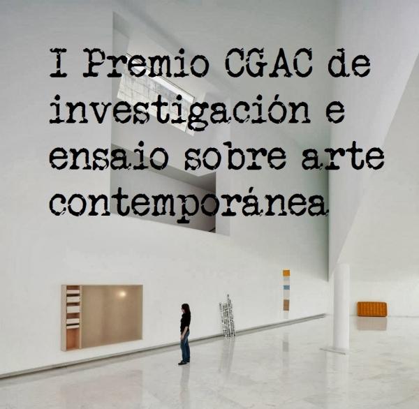 I Premio CGAC de investigación e ensaio sobre arte contemporánea