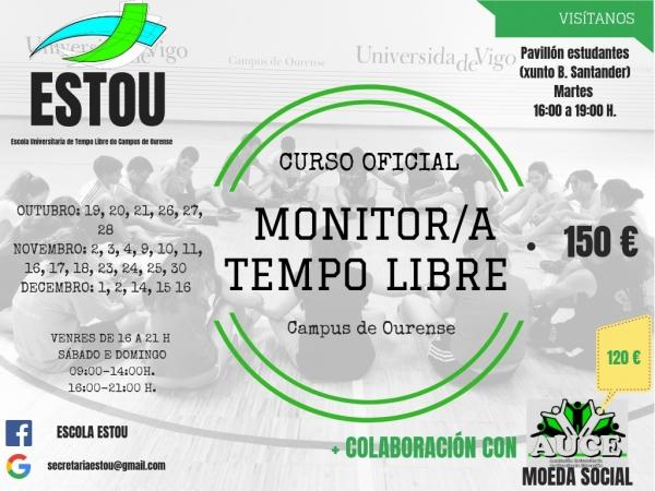 Curso de monitor/a de tempo libre en Ourense