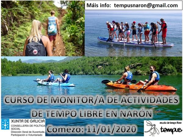 Curso de Monitor/a de actividades de tempo libre da escola Tempus en Narón